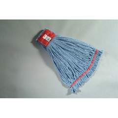 Web Foot Wet Mop Heads, Shrinkless, Cotton/Synthetic, Blue, Large