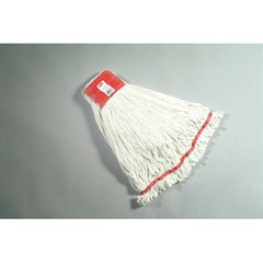 Web Foot Wet Mop Heads, Shrinkless, Cotton / Synthetic, White, Large [rcp a253 whi ]