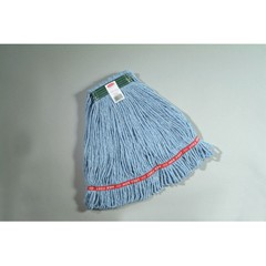 Web Foot Wet Mops, Cotton/Synthetic, Blue, Medium, 1-in. Green Headband