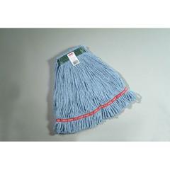 Web Foot Wet Mops, Cotton/Synthetic, Blue, Medium, 1-in. Green Headband