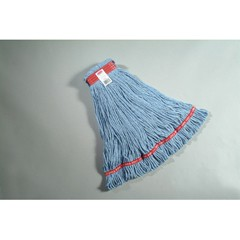 Web Foot Wet Mops, Cotton/Synthetic, Blue, Large, 1-in. Red Headband