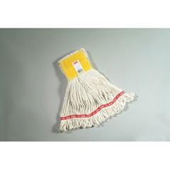 Web Foot Wet Mops, Cotton/Synthetic, White, Small, 5-in. Yellow Headband