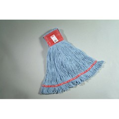 Web Foot Wet Mops, Cotton/Synthetic, Blue, Large, 5-in. Red Headband