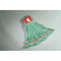 Web Foot Wet Mops, Cotton/Synthetic, Green, Large, 5-in. Red Headband