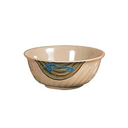 Wei Melamine 20 Oz. Fluted Bowl - 6