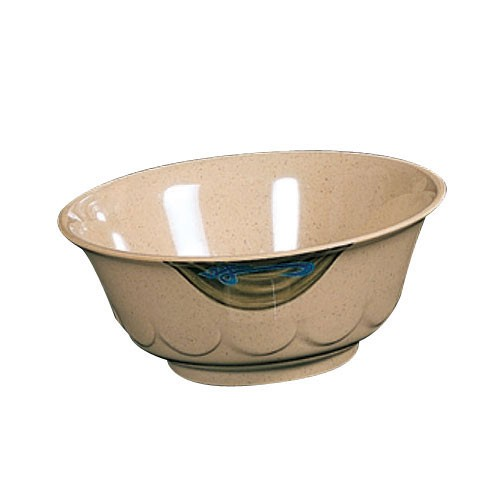 Wei Melamine 32 Oz. Scallop Edge Bowl - 7-1/4