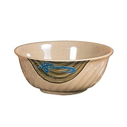 Wei Melamine 45 Oz. Fluted Bowl - 7-4/5