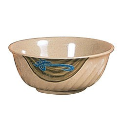 Thunder Group 5309J Wei Melamine Swirl Bowl 72 oz.