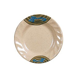 Thunder Group 1208J Wei Round Curved Rim Melamine Plate 8""