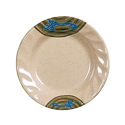 Thunder Group 1209J Wei Round Curved Rim Melamine Plate 9-1/4""