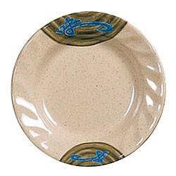 Thunder Group 1210J Wei Round Curved Rim Melamine Plate 10-1/2""