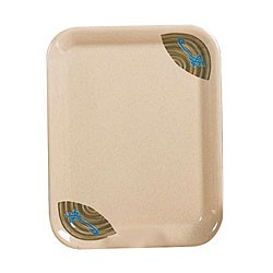 "Thunder Group 0902j Wei Square Melamine Tray 15-1/2"" x 11-1/2"""