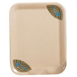 "Thunder Group 0903J Wei Square Melamine Tray 17"" x 12-5/8"""