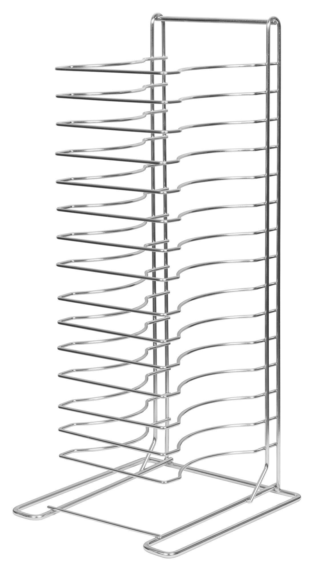 15-Slot Pizza Tray Rack