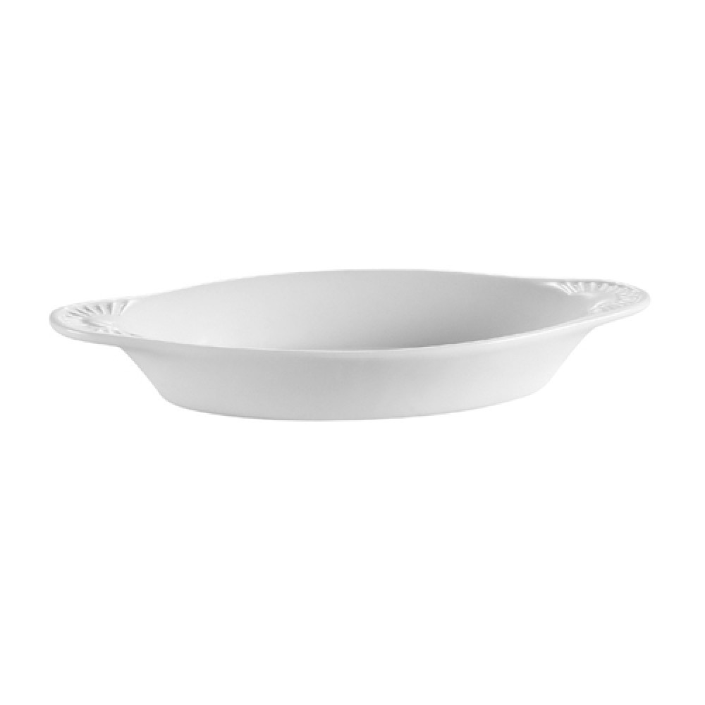CAC China COA-8-P Stoneware Oval Welsh Rarebit Baking Dish, Bone White 8 oz.