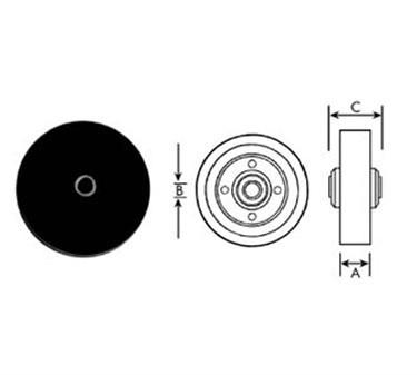 Franklin Machine Products  120-1023 Wheel (3, 5/16Id, Blk )
