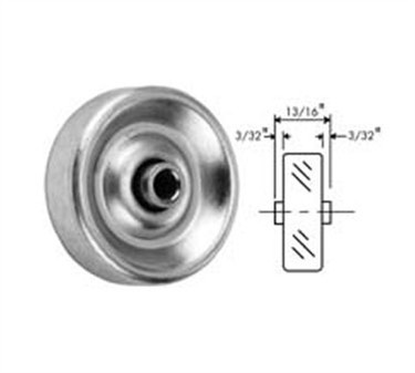 Franklin Machine Products  132-1093 Wheel, Skate (1-15/16 Od )