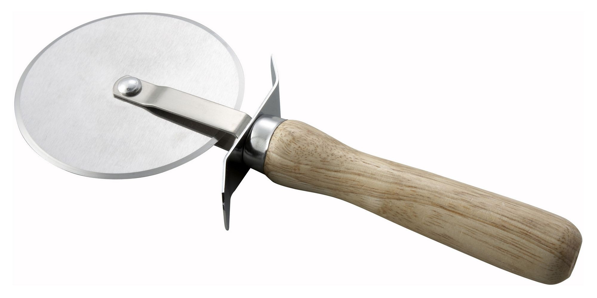 "Winco PWC-4 Pizza Cutter with Wood Handle 4"" Dia."