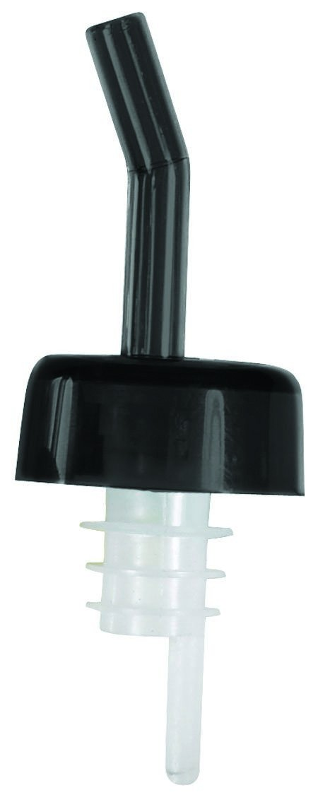 Winco PPW-K Whiskey Free Flow Pourer with Black Collar and Spout