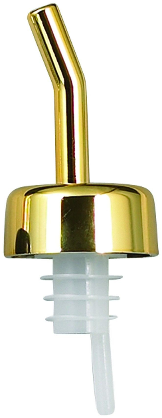 Winco PPW-GD Whiskey Free Flow Pourer with Golden Collar and Spout