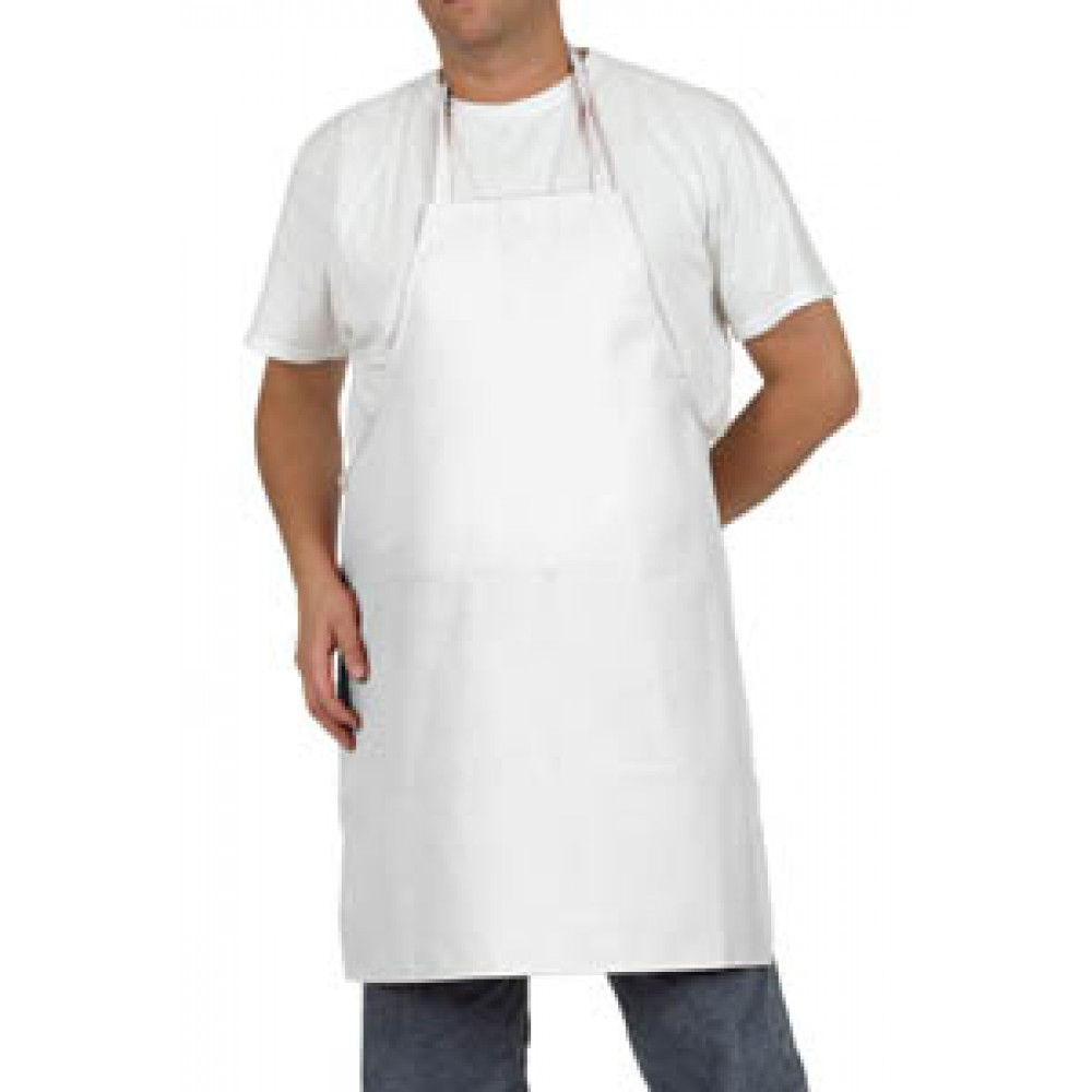 White 100% Cotton Bib Apron 36x42