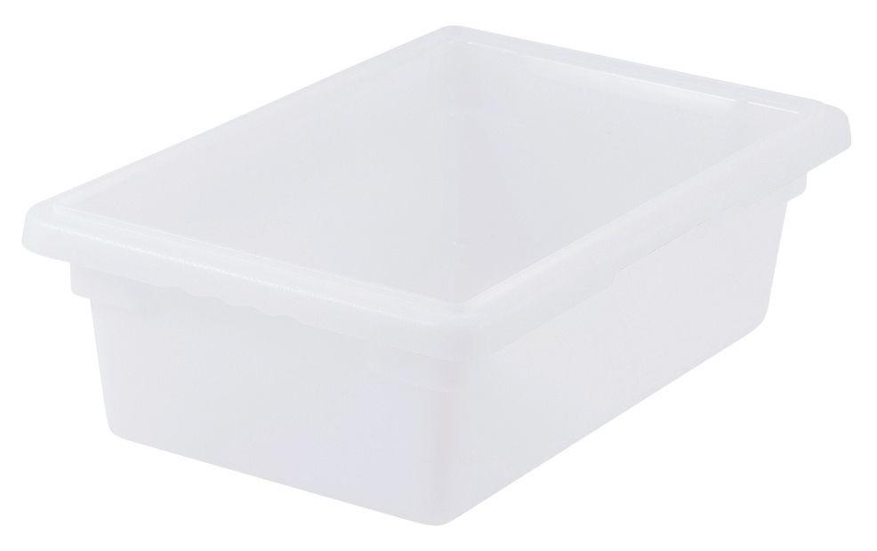 "Winco PFHW-6 White 18"" x 12"" x 6"" Food Storage Box"