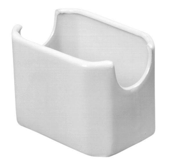 "Johnson-Rose 4072 White Ceramic Sugar Packet Holder 3-1/2"" x 2-1/2"" x 2-1/2"""