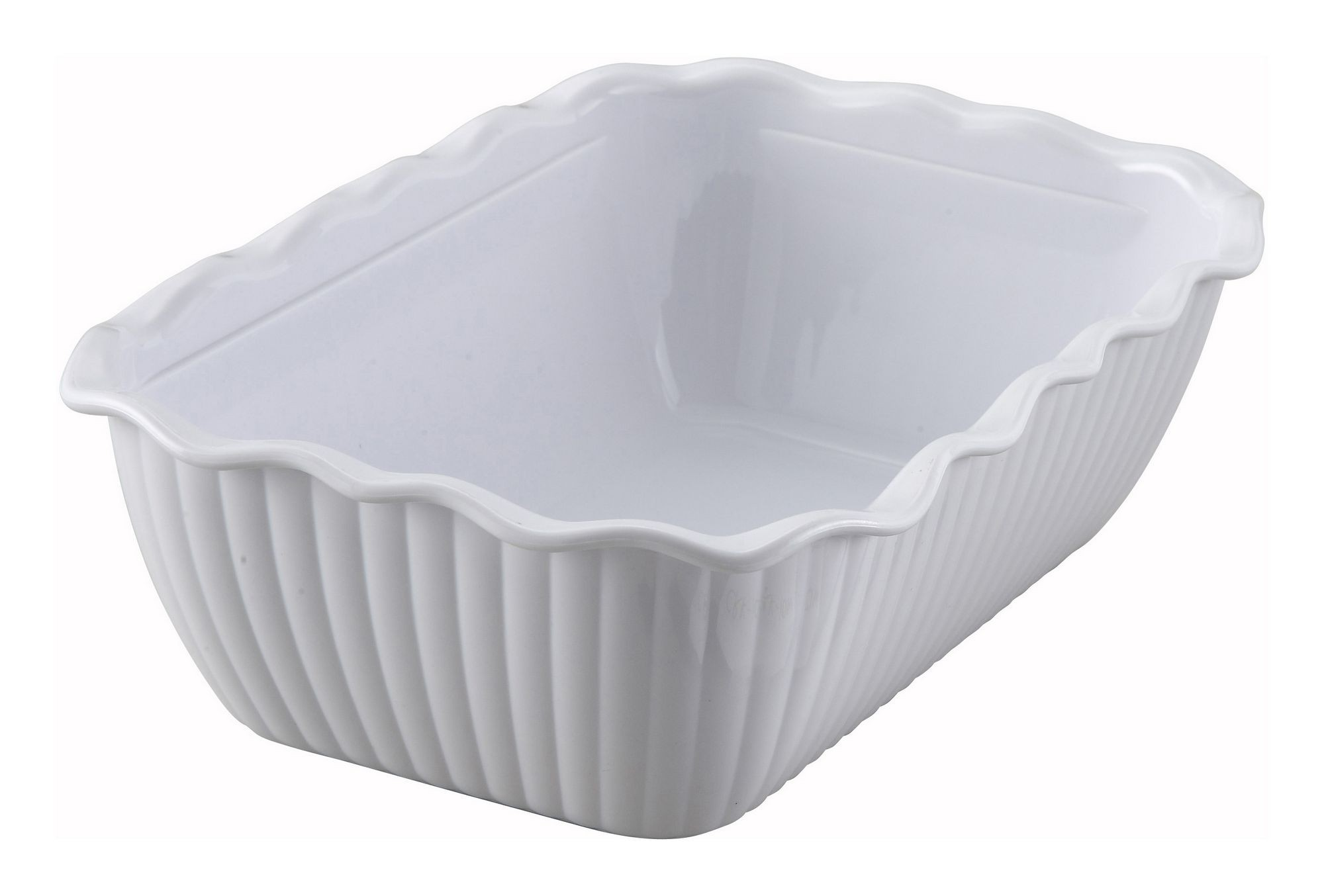 "Winco CRK-10W White Food Storage Container/Crock 10"" x 7"" x 3"""