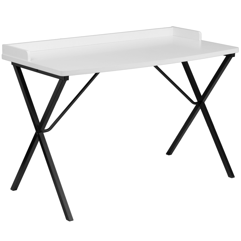 Flash Furniture NAN-2140-WH-GG White Computer Desk