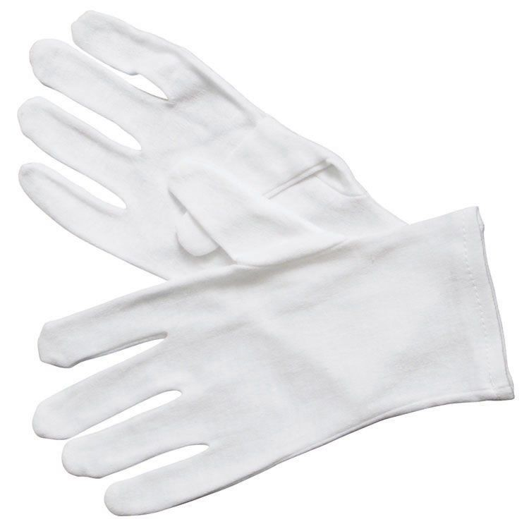 Winco GLC-L White Cotton Disposable Service Glove, Large