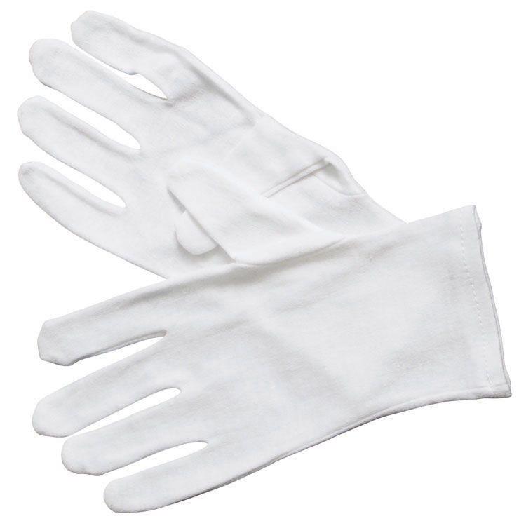 Winco GLC-L White Cotton Disposable Service Glove, Large