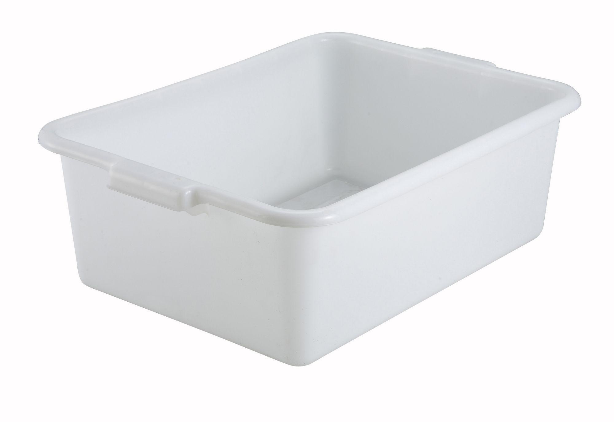 "Winco PL-7W White Dish Box 20-1/4"" x 15-1/2"" x 7"""