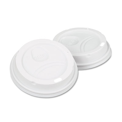 Dart White Dome Lid Fits 10-16 oz Perfectouch Hot Cups, 12-20 oz., WiseSize, 500/Carton