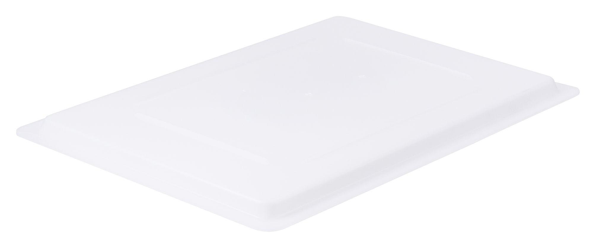 "Winco PFHW-C White Food Storage Box Cover 18"" x 12"""