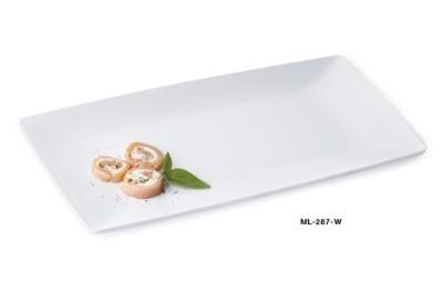 "G.E.T. Enterprises ML-287-W Siciliano White Melamine 15"" x 7-1/2"" Tray"
