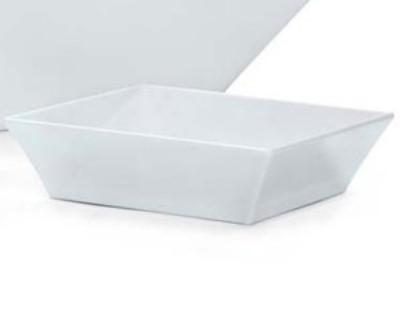 White Melamine 2.3 qt. (2.3 qt. Rim-Full), 9