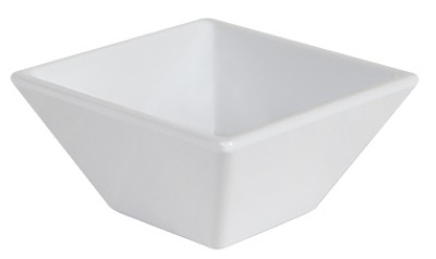 G.E.T. Enterprises ML-257-W Siciliano White 3 oz. Square Petite Bowl, 3""