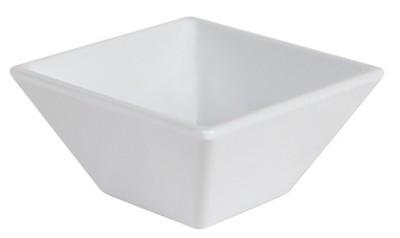 """G.E.T. Enterprises ML-257-W Siciliano White 3 oz. Square Petite Bowl, 3"""""""