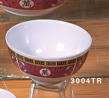 "Thunder Group 3008TW White Melamine Rice Bowl 5 oz., 3-3/4"" Dia."
