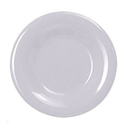 Thunder Group CR010W White Melamine Wide Rim Round Plate 10-1/2""