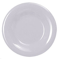 Thunder Group CR012W White Melamine Wide Rim Round Plate 12""
