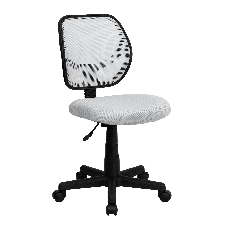 Flash Furniture WA-3074-WHT-GG White Mesh Computer Chair