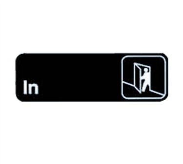 "TableCraft 394511 In Sign, White-On-Black 3"" x 9"""