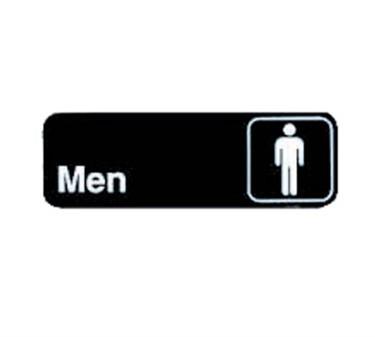 """TableCraft 394515 Men Sign, White-On-Black 3"""" x 9"""""""
