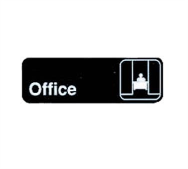 "TableCraft 394528 Office Sign, White-On-Black 3"" x 9"""