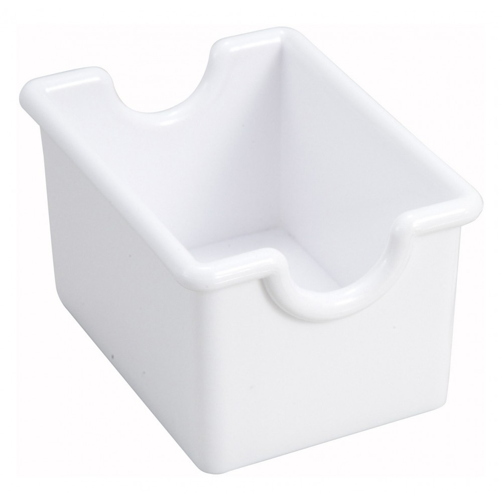 White Plastic Sugar Packet Holder