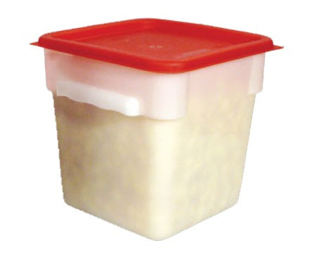 White Polyethylene 12-Quart Square Food Storage Container (lids sold separately)
