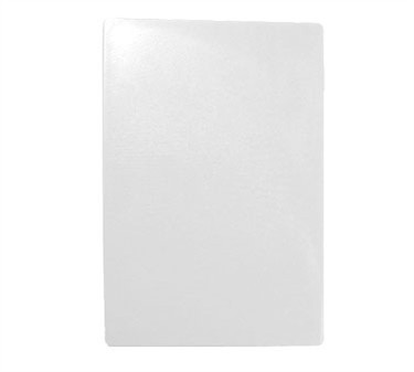"TableCraft CB1218WA White Polyethylene Cutting Board 12"" x 18"" x 1/2"""