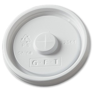 White Polyethylene Disposable Lid for 2206 (1000 pieces/cs)