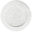 "Jay Import 1660151 ChargeIt by Jay White Round Rattan 13"" Charger Plate"